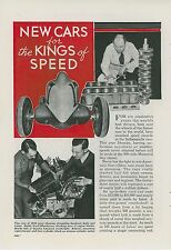 1939 Magazine Article New Designs for Indy 500 Race Cars Sampson Comet Racer