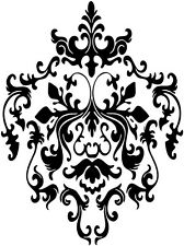 "12"" BAROQUE STYLE SWIRL WALL VINYL DECAL STICKER WALL ART DESIGN BEDROOM"