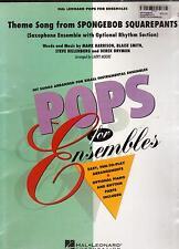 SPONGEBOB SQUAREPANTS Theme Song, SAXOPHONE ENSEMBLE MUSIC PARTS, NEW.