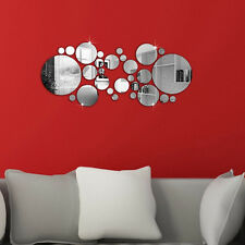 28pcs Acrylic Sticker 3D Wall Sticker MIRROR EFFECT Home Room DECOR Removable