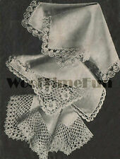Crochet Edgings For Hankies And Doilies. Vintage Pattern. 3 Pretty Designs.