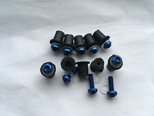 10 Motorcycle Windscreen Blue Bolts Kit Windshield Screw Nut Set Fairing Bike M5