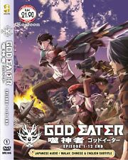 DVD Japan Anime GOD EATER Complete TV Series (1-12 End) English Sub NEW