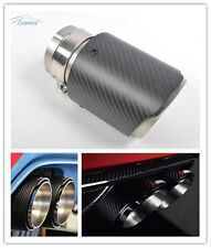 Real Carbon Fiber Exhaust Muffler Tips Pip Single 1pc 114MM for BMW BENZ VW AUDI