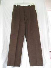 "Authentic WW11 Army Trousers Brown Wool 5 Button Fly 29""x29"" dated Jan.17,1945"