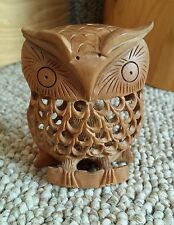 Owl Inside An Owl Wooden Hand Carved Wildlife Bird Of Prey Custom Nature Figure