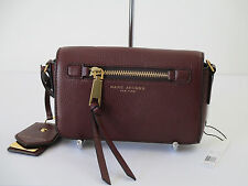 New Marc Jacobs Recruit Chianti Leather Crossbody Shoulder Handbag M0008896