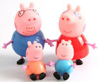 4PCS Peppa Pig Toy Family Action Figures Toys Gift Set Daddy Mummy Kids Playset