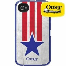 NEW Authentic Otterbox Defender Case + Holster for iPhone 4/4S - USA Flag Star