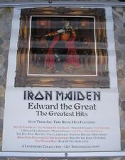 IRON MAIDEN Edward The Great promo poster 30 x 20 2002 original