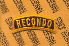 US ARMY RECONDO Reconnaissance Commando tab patch