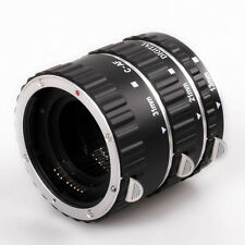 Metal Macro Auto Focus AF Automatic Extension Tube Set for Kenko Canon EF EF-S