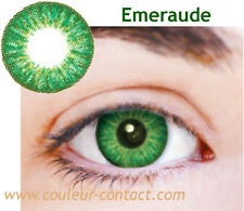 SALE: LENTILLE DE COULEUR EMERAUDE COLOUR LENS VERRE CONTACT DARK EYE SMALL PUPI