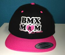 BMX MOM MUM HAT CAP FLAT BILL SNAPBACK JUST RIDE BIKE RACE BICYCLE RACING
