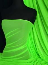 Power Mesh 4 Way Stretch Fabric Material- Flo Lime Green 109LT FLMGR
