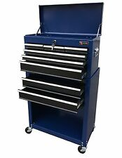 Excel 24 Inch Tool Chest Combo 8 Ball Bearing Drawers Blue TB220X-AB-BLUE New
