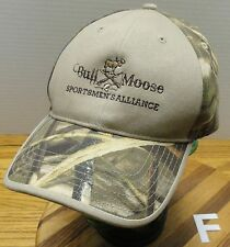 BULL MOOSE SPORTSMEN'S ALLIANCE HAT ADVANTAGE CAMO ADJUSTABLE HUNTING FISHING
