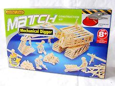 NEW MATCH TECH MATCHSTICK CONSTRUCTION KIT 3D MICROBEAMS BUILD MECHANICAL DIGGER