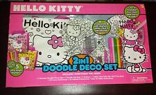 Hello Kitty 2-in-1 Doodle Deco Set - Brand New ~ Lots of Fun!!