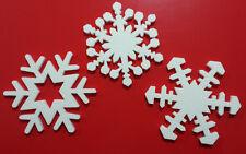 Kit 30pz stelle fiocchi di neve polistirolo 18cm. Decorazione vetrine Natale