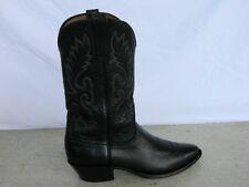 Men's Lucchese Classic Cowboy Boots BLACK BULLHIDE SHOULDER sz 10.5A