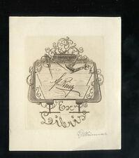 EXLIBRIS,369a, Georg Wimmer, Tischlerwerkzeug, 1932