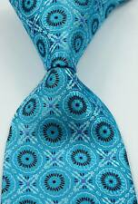 New Classic Florals Turquoise Brown Pink JACQUARD WOVEN Silk Men's Tie Necktie