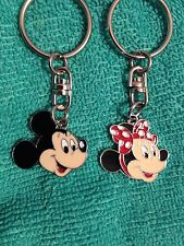 1 retro minnie mouse / 1 mickey mouse keyrings