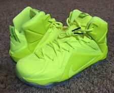 Nike Lebron XII 12 EXT Tennis Ball Volt Shoes RARE 748861 700 NEW Men's US