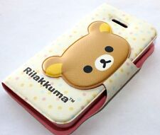 iPHONE 4 4G 4S - CARD ID WALLET FLIP POUCH HOLSTER CASE COVER BROWN TEDDY BEAR