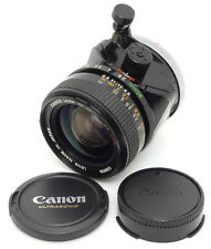 Canon FD TS 35mm F2.8 S.S.C. Lens. Filter