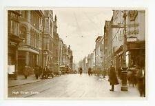 High Street EXETER Real Photo RPPC—Antique Devon—Signs Bicycle Police 1910s