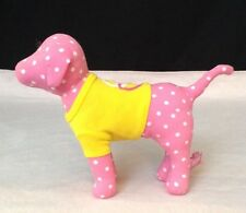 "8"" Victoria's Secret Plush PINK Dog LOVE w/ POLKA DOTS & SHIRT Stuffed Animal"