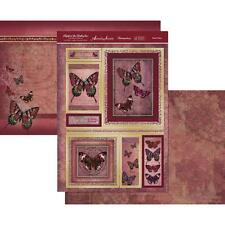 Rustic Ruby Butterfly Card Making Kit Paper Crafting HUNKYDORY FBJE903 New