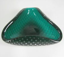 Venini vidrio Ascher/Cenicero Carlo Scarpa Design Glass Ashtray Italy Bubble