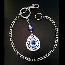 Hosenkette Anhänger Schlüsselring Boncuk Nazar türkisches blaue Auge Böser Blick