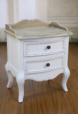 French Provincial Bedside Chest Antique White Bedside Table 2 Drawer BRAND NEW