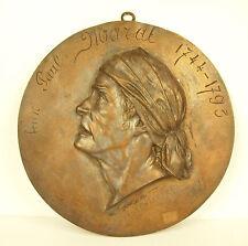 Médaillon à Jean-Paul Marat par A Grégor Révolution Française vers 1800 Medal