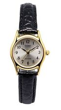 Casio LTP1094Q-7B2 Ladies Casual Analog Watch Genuine Leather Band Gold Case