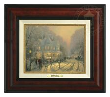 Thomas Kinkade - A Holiday Gathering – Canvas Classic (Burl Frame)