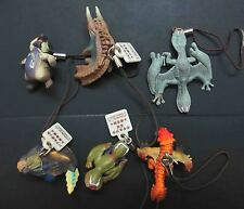 LOT OF 6 Capcom Monster Hunter MASCOT PVC Figure key chain #KN7