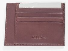 New Ferre Brown Leather Credit card holder