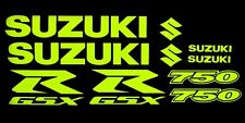 GSXR 750 Fluorescent yellow decal graphic sticker set