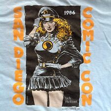 Vintage SAN DIEGO 1986 COMICON T-SHIRT 80s LADY BLACKHAWK GRAPHITTI DC COMICS