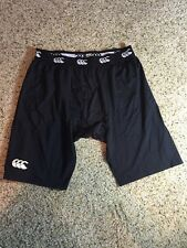 MENS SIZE 2XLCANTERBURY OF NEW ZEALAND BLACK RUGBY ATHLETIC  SHORTS LINER KD1