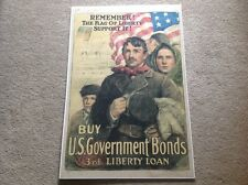 "ORIGINAL WORLD WAR I "" BUY A U.S. GOVERNMENT BOND OF THE  3rd. LIBERTY LOAN """