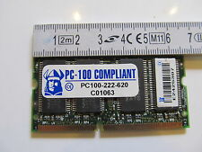 PC-100-222-620 144 PIN MEMORY MODULE USED 128MB