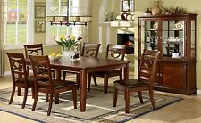 Dining Room Modern 7pc Set Dining Table w Leaf Unique Designed Chairs Comfort