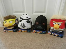 4 x Angry Birds Star Wars Soft Toys Darth Vader Stormtrooper Skywalker Hans Solo