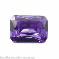 7mm x 5mm Natural Purple Amethyst Rectangle Octagon Radiant Cut Gem Gemstone